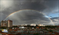 Rainbow. City. Yesterday.